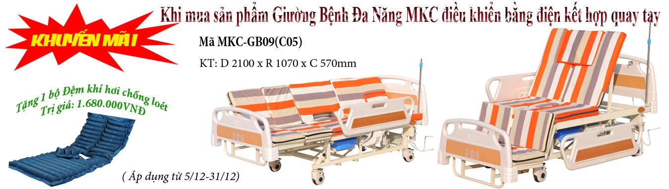 Khuyến mãi Giường bệnh Điện MKC-GB09