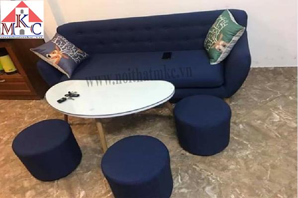 Ghế sofa dài 1,5m màu xanh da trời