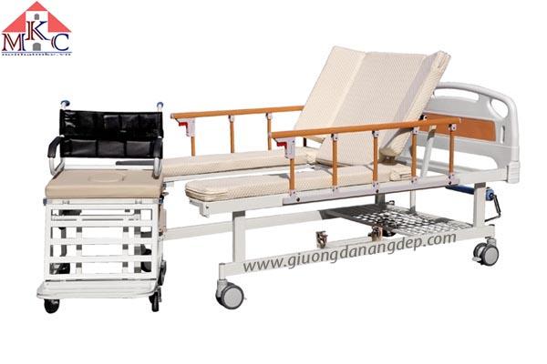 Giường bệnh đa năng MKC-Medical tách thành xe lăn điều khiển bằng tay quay 6 chức năng