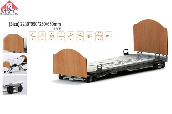 Giường bệnh đa năng MKC-Medical điều khiển bằng điện ốp gỗ hiện đại mã MKC-D04-12