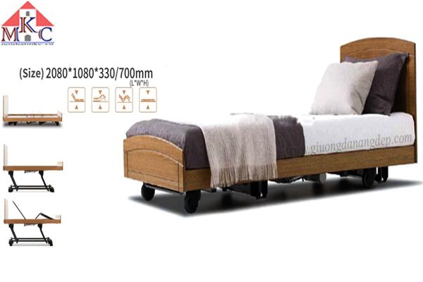 Giường bệnh đa năng MKC-Medical điều khiển bằng điện ốp gỗ hiện đại mã MKC-D04-13