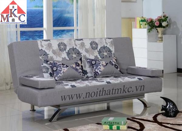 Giường gấp sofa 2in1 màu ghi hoa