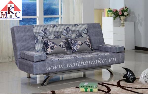 Giường gấp sofa 2in1 màu ghi đậm