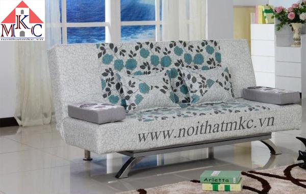 Giường gấp sofa 2in1 màu ghi sáng