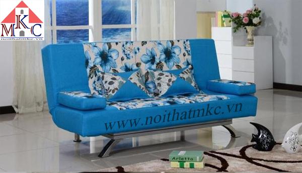 Giường gấp sofa 2in1 màu xanh ngọc