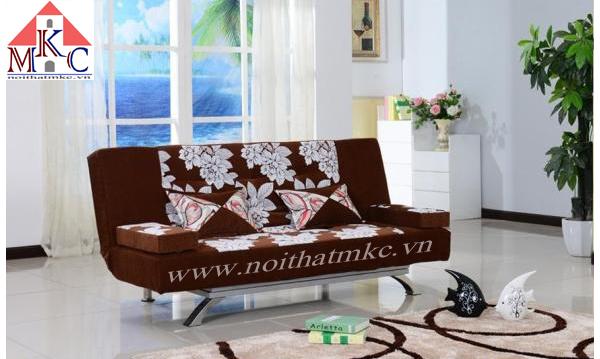 Giường gấp sofa 2in1 màu nâu