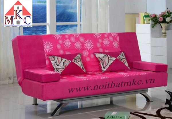 Giường gấp sofa 2in1 màu hồng