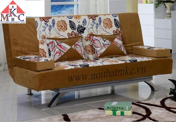 Giường gấp sofa 2in1 màu vàng da bò