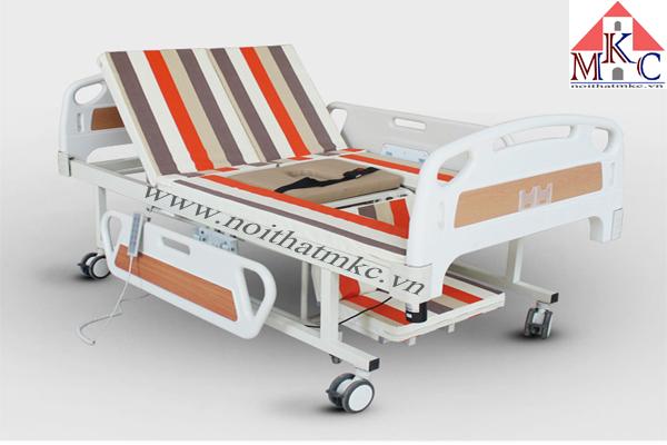 Giường bệnh MKC-Medical điều khiển điện kết hợp tách thành xe lăn hiện đại
