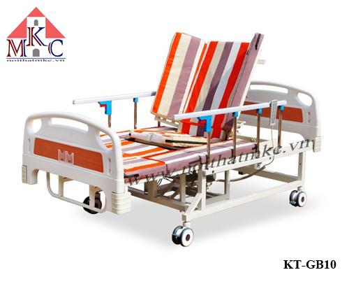 Giường bệnh đa năng MKC-Medical đầu khum điều khiển bằng điện kết hợp tay quay