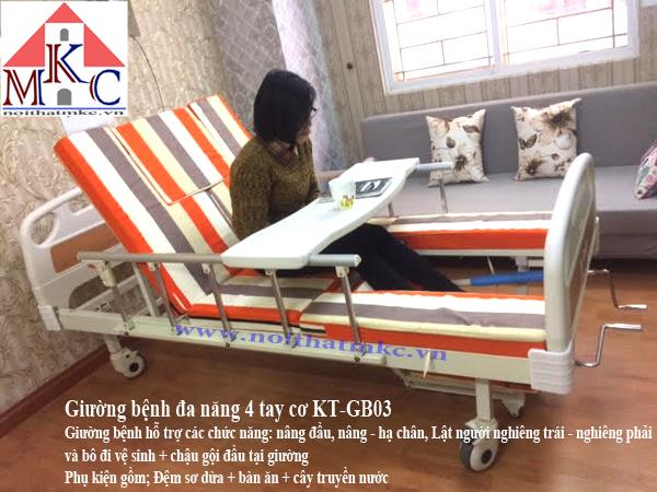 Giường bệnh đa năng MKC-Medical 4 tay quay 9 chức năng