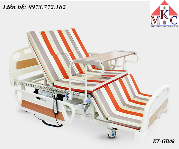 Giường bệnh MKC-Medical tăng chỉnh độ cao thấp điều khiển bằng điện có 12 chức năng