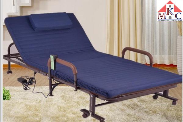 Giường gấp điện Hàn Quốc RAKU BED màu xanh