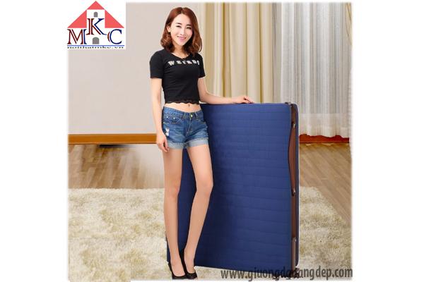 Giường gấp Hàn Quốc RAKU BED rộng 120cm màu xanh