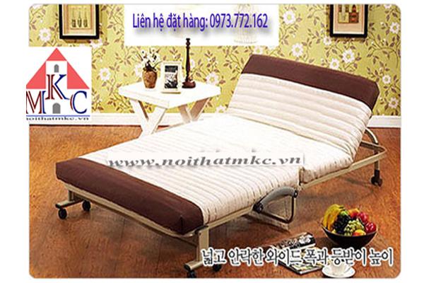 Giường gấp Hàn Quốc RAKU BED rộng 90cm màu nâu