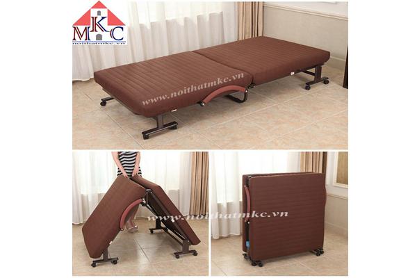 Giường gấp Hàn Quốc RAKU BED rộng 75cm màu nâu