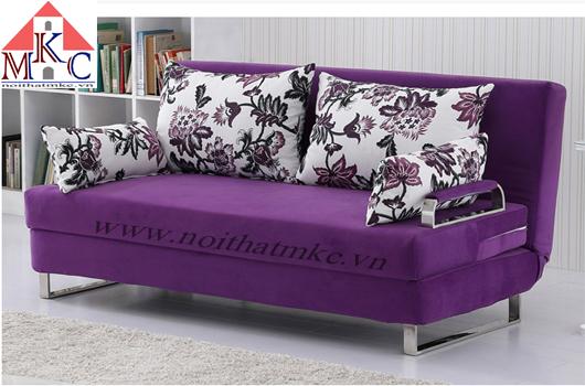 Sofa giường 2in1 rộng 1,5m màu tím
