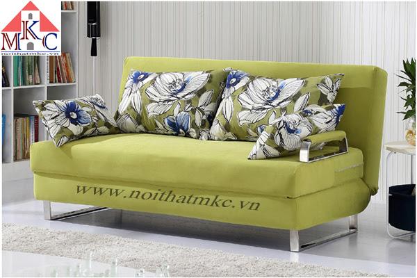 Sofa giường rộng 1.6m màu vàng chanh