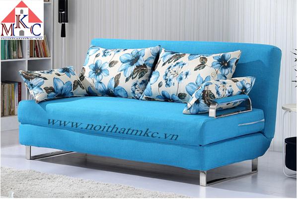 Sofa giường rộng 1.5m, màu xanh