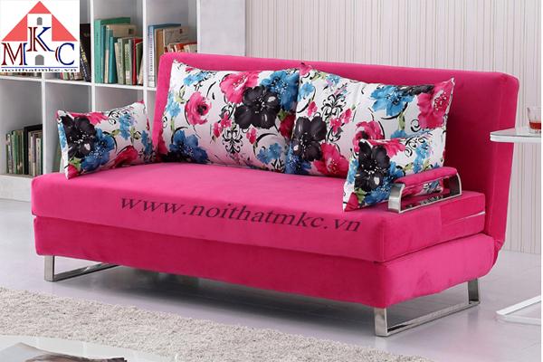 Sofa giường rộng 1.8m màu hồng